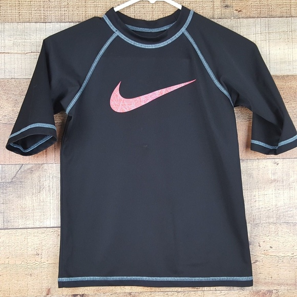Boys' Swimwear Nike Watercamo Long Sleeve Hydro Top In